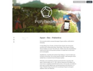polyhedroninc.tumblr.com screenshot