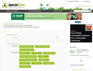 polymer-additives.specialchem.com screenshot