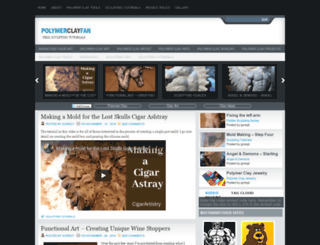 polymerclayfan.com screenshot