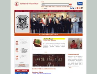 polytechnic.somaiya.edu screenshot