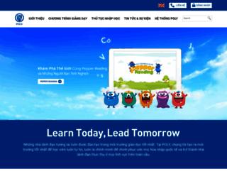 polyvietnam.edu.vn screenshot