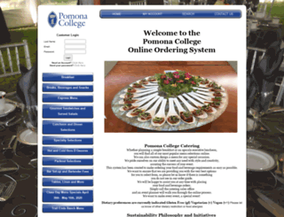 pomonacollegecatering.catertrax.com screenshot