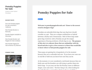 pomskypuppiesforsale.net screenshot
