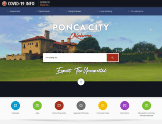 poncacityok.gov screenshot