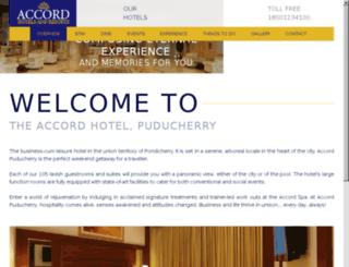 pondicherry.theaccordhotels.com screenshot
