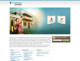 pondicherryeducation.net screenshot