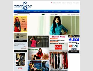 pondokbaju.com screenshot