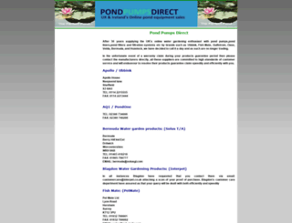 pondpumpsdirect.com screenshot
