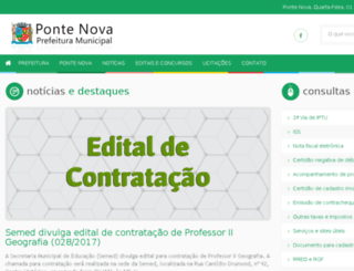pontenova.mg.gov.br screenshot