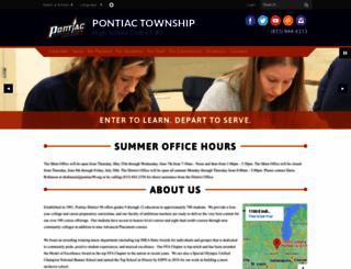 pontiac.k12.il.us screenshot