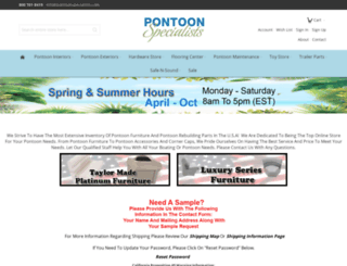 pontoonspecialists.com screenshot