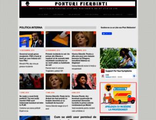 ponturifierbinti.com screenshot