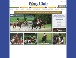 ponyclub.org screenshot