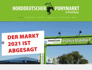 ponymarkt-hunteburg.de screenshot
