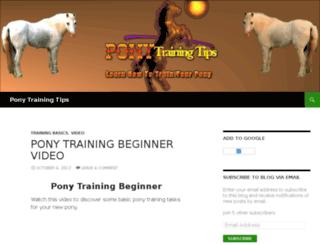 ponytrainingtips.info screenshot