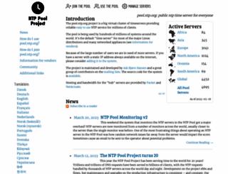 pool.ntp.org screenshot