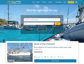 poole.boatshed.com screenshot