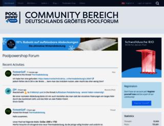 poolpowershop-forum.de screenshot