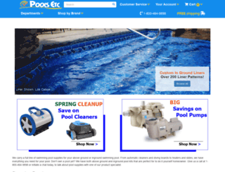 poolsinc.com screenshot