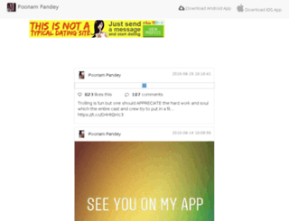 poonampandey.in screenshot