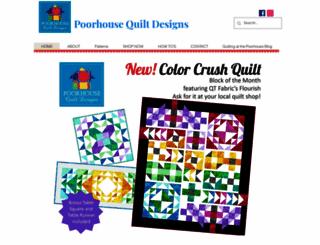 poorhousequiltdesign.com screenshot