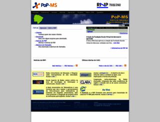 pop-ms.rnp.br screenshot