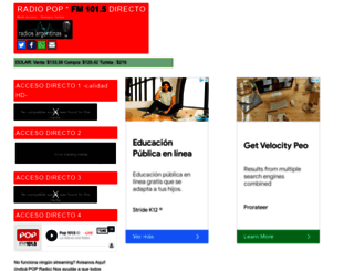 pop-radio-ar.com screenshot
