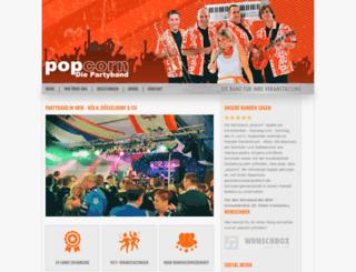 popcorn-partyband.de screenshot