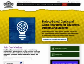 popcultureclassroom.org screenshot
