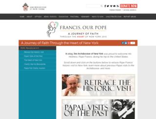 popefrancisnyc.org screenshot