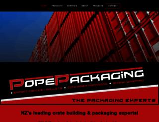 popepackaging.co.nz screenshot