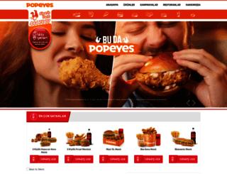 popeyes.com.tr screenshot