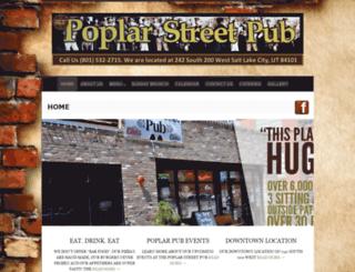 poplarstreetpub.com screenshot