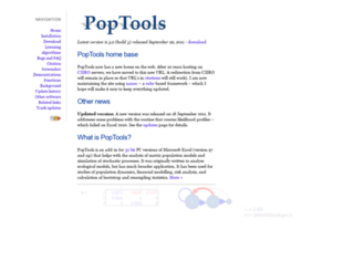 poptools.org screenshot