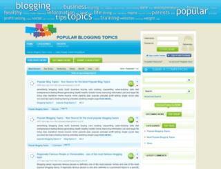 popularbloggingtopics.com screenshot