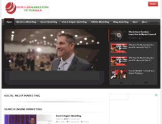 popularmarketingtutorials.com screenshot