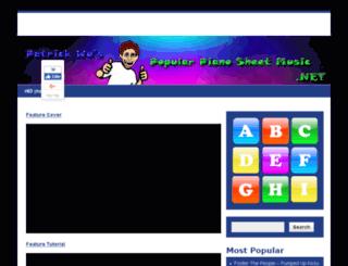 popularpianosheetmusic.net screenshot