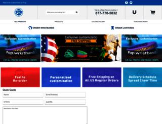 popwristbands.com screenshot