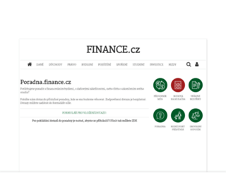 poradna.finance.cz screenshot