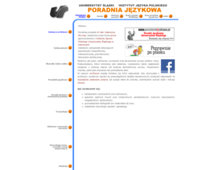 poradniajezykowa.us.edu.pl screenshot