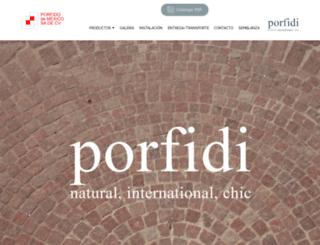 porfido.com.mx screenshot