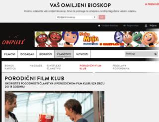 porodicniklub.cineplexx.rs screenshot