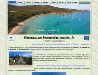 porquerolles-location.fr screenshot