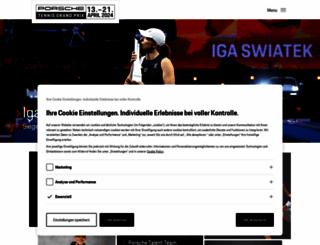porsche-tennis.de screenshot