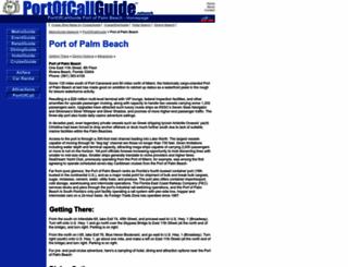 port.of.palm.beach.portofcallguide.com screenshot