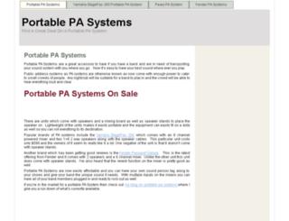 portablepasystems.org screenshot