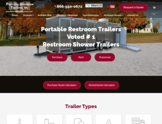 portablerestroomtrailers.com screenshot