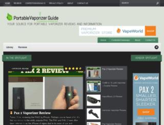 portablevaporizerguide.com screenshot