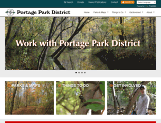portageparkdistrict.org screenshot
