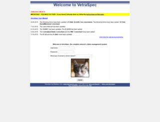 portagewi.vetraspec.com screenshot
